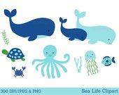 Cute Whale Clipart / Unde...