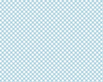 "ON SALE Penny Rose Fabrics ""Bunnies and Cream"" Blue Gingham"
