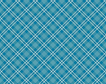ON SALE Penny Rose Fabrics Gingham Girls By Amy Smart Plaid Blue