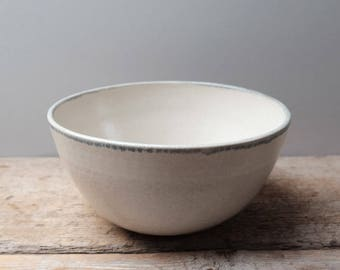Simple Stoneware Serving Bowl