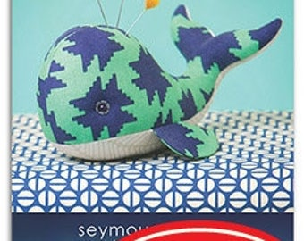 Heather Bailey Seymour Spyhop Sewing Pattern, FREE SHIPPING // Whale // Stuffed Animal // Pincushion // DIY