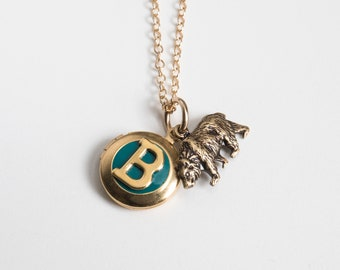 Bear Necklace - Personalized Jewelry - Mama Bear - Photo Locket - Tiny Locket - Initial Necklace - Mama Bear Necklace - Bear Locket