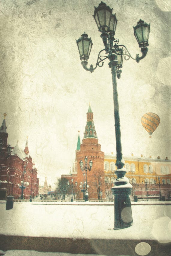 Street Light,Snow,Home Decor,Wall Decor,Winter Photography,Architecture,living room decor, modern decor, hot air balloon,air balloon decor