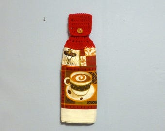 Hanging Kitchen Towel Cup of Coffee