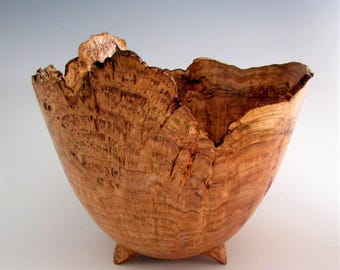 Wood Bowl - Cherry Burl - Wood Turned Bowl - Artistic Bowl - Wooden Bowl - Wood Turning Bowl - Wedding Gift - Wood Centerpiece Bowl