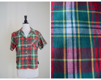 1950s Checkered Blouse | 50s LauraMae Blouse