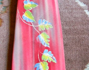 Christmas in July Vintage Hand Painted Necktie