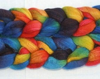 Blueface Leicester Tussah Silk Spinning Fiber - 'American Dream'