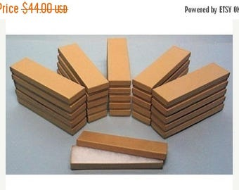 Summer Sale 100 Pack Kraft Cotton Filled Presentation Jewelry Boxes 8 X 2 X 1 Inch Size