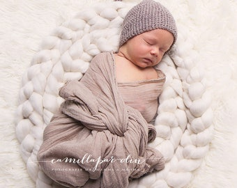 Extra-Long Merino Wool Braids for Photo Props, Newborn Photography, or Spinning