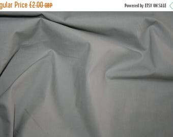 SUMMER SALE Special offer! Grey brushed cotton poplin fabric 0.50 metre - made in Europe