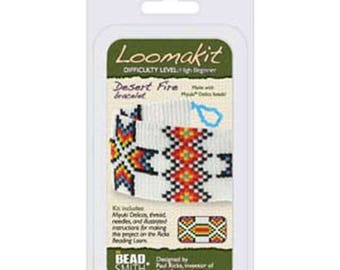 ON SALE Bead Loom Kit Loomatiks Desert Fire with All Materials Included plus Instructions with Beads