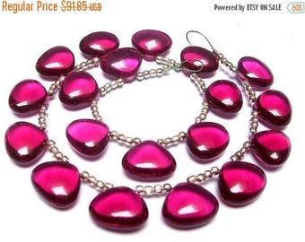50% Off Sale Wholesale - Gorgeous Hot Pink Quartz Smooth Polished Heart Briolettes Calibrated Size 12x11mm approx, 8 Inches Strand