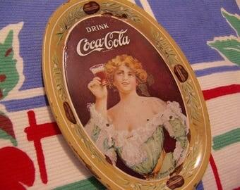 1973 coca cola tip tole tray