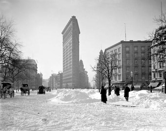 Flatiron Building After A Snow Storm 1900's Photo
