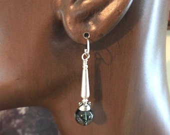 Fine Stone and Silver Earrings