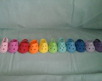 "Reserved listing for azaletha young - 5 pair of Croc Shoes fits the 18"" American Girl Doll"
