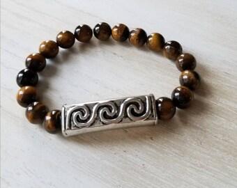 Tigers eye bracelet| mens bracelet| gifts for him| mala bracelet| bracelet for men| boho bracelets| yoga bracelets| stretch bracelets