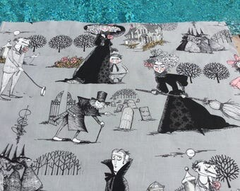 By the Panel ~ The Ghastlies Smoke Color ~ Alexander Henry The Original Ghastlies Cotton Quilt Fabric