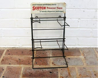 Vintage Scotch Tape Rack Vintage Advertising Sign Vintage Scotch Tape Store Display Rack