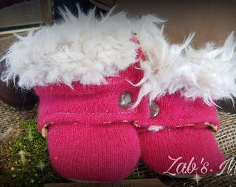 Wool Boots with the fur