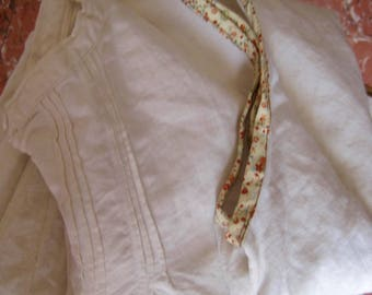 French Chemise, Vintage Chemise, French Linen Chemise, Ecru Chemise, Dress/Nightie, Artist Smock, Linen Nightdress, Linen Summer Dress, Ecru