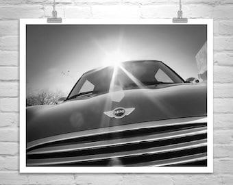 Mini Cooper, Mini Car, Car Photograph, Boyfriend Gift, BMW, Car Picture, Automotive Art, Canvas Print, Art on Canvas, Murray Bolesta, Gift