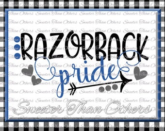 Razorback Pride Svg, Football Razorback, Baseball Razorback, Basketball Razorback, Design SVG DXF Silhouette Cameo Cricut Instant Download