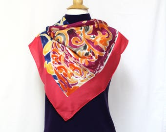 Scarf, Vintage Scarf, Silk Scarf, Met Museum Scarf, Henri Matisse Scarf, Large Scarf, Square Scarf, Floral Scarf, Abstract Print Scarf