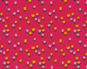 Tulip Patch Pink - Gather - Juliet Meeks  - 101501 Cloud 9 Fabrics 100% Organic Cotton