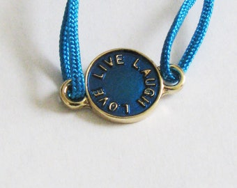Live Love Laugh Cord Bracelet