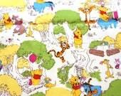 Disney Licensed fabric Cartoon Winnie The Pooh and friends   Piglet Tigger  Print Half meter nc22
