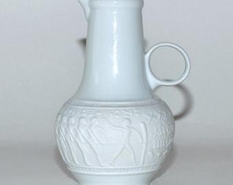 Vintage Royal Porzellan Bavaria KPM Germany Egyptian Jug White Glossy & Matte Finish