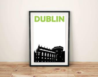 Dublin Print // Ireland Art Print // Dublin Poster // Dublin Art // Irish Art // Irish Gift // Irish City Poster // Gift for Travellers