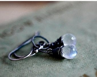 Summer Sale Moonstone Earrings, Drop Earrings, Gemstone Earrings, Moonstone Jewelry, Sterling Silver, Celestial Jewelry, Dangle Earrings, Po