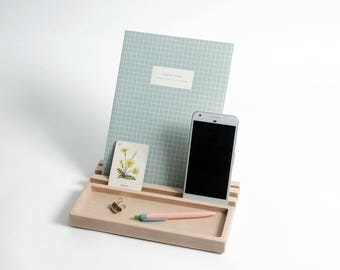 Desk organiser, gifts ideas for boyfriends, ipad stand, desk tidy, home office, fathers day gift, phone stand, work space,