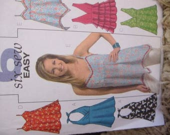New/Uncut - Butterick 6 Sew Easy Pattern B4800 - Pullover Tops, Shirts, Summer Tops, Womens tops, Tank Top, Halter Top