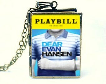 Dear Evan Hansen, You Will Be Found, The Connor Project, Broadway Musical, Playbill Locket Necklace, Tony Award Musical