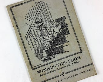 Script for Winnie the Pooh, Dramatized from the stories of A.A. Milne, Copyright 1957