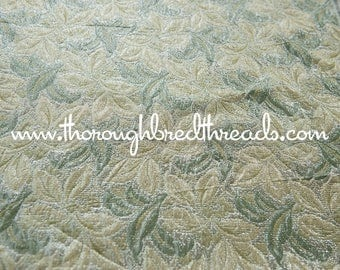 Beautiful  Metallic - New Old Stock Vintage Fabric 70s 80s Lame Green Gold