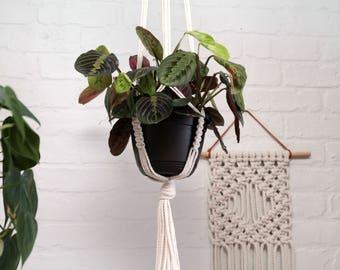Macrame Plant Hanger. Modern Macrame Plant Holder. Hanging Plant Holder. Jungalow Style.