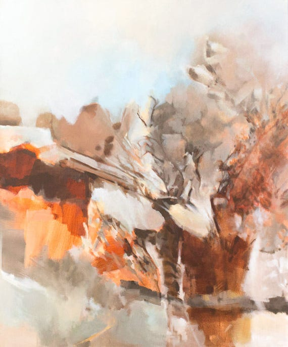 Large Original Abstract Painting - Summerland