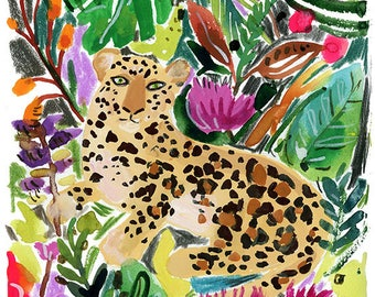 Jungle Leopard Archival Print