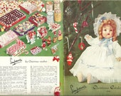 Vintage 1948 Simpsons Christmas 163 Page Catalogue Ornaments Decorations Toys Jewelry Clothing Tools Original Catalog