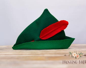 "Peter Pan  Archers Cap ""All children, except one, grow up"" Peter Pan Robin Hood Cap"