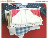Summer Sale Miniature Chest with Folded Quilts 1:12 Scale