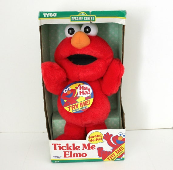 Vintage 1996 Tickle Me Elmo in NOS Sealed Box, Jim Henson Muppets, Works