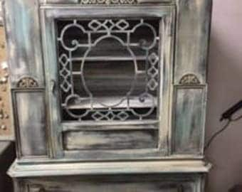 """Depression China Cabinet with """"Secret"""" Compartment"""
