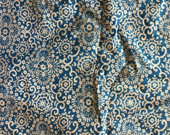 Sally Pretty Please By Jennifer Paganelli Fabric By Free Spirit Blue White 1-1/2 Yards