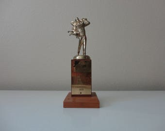 VINTAGE 1959 trophy - Penny Profit  and Bally-Ho Champs A and E SQDN. Willy Fun Fest. Carnival 1959